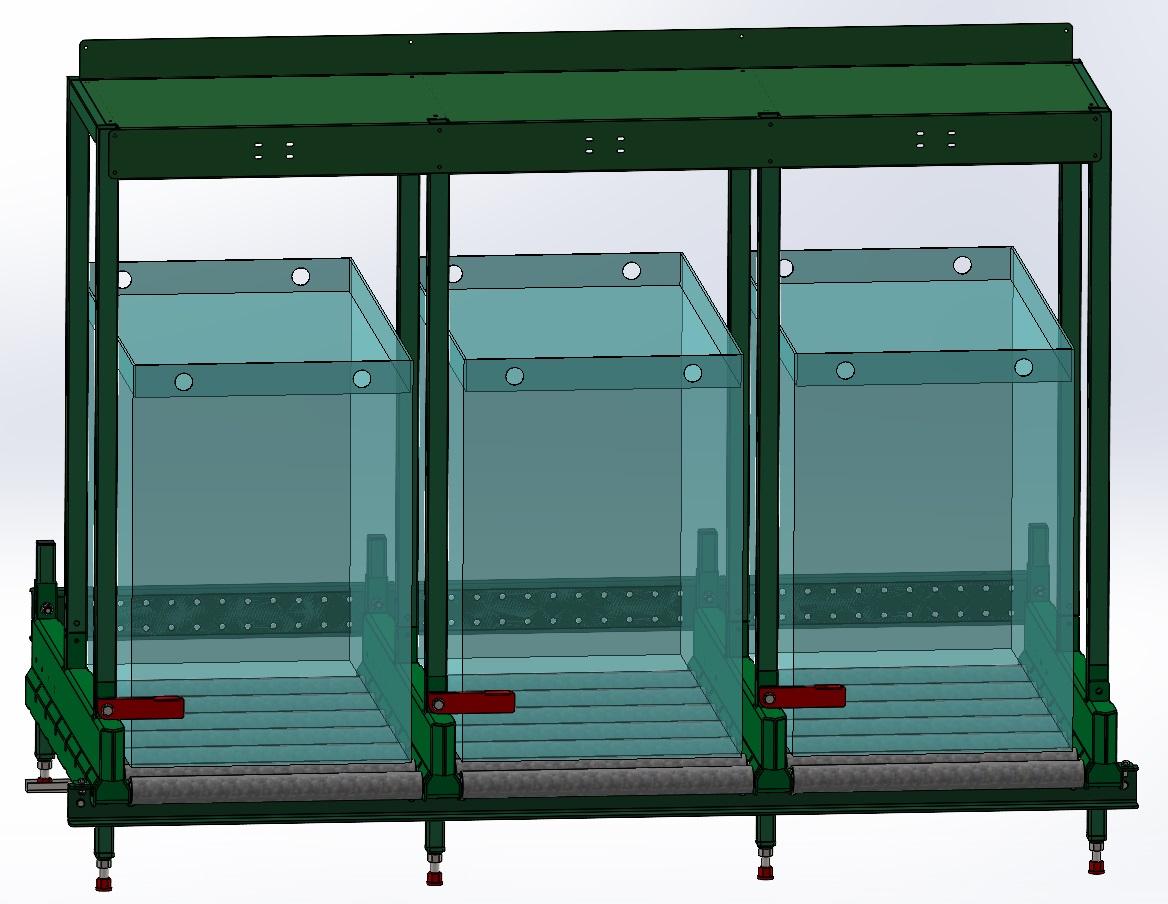 Görgős akkumulátor tároló - Töltő Tartóval